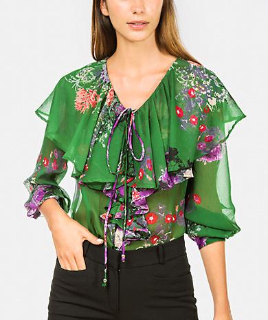 Com Mujer Túnicas Estampado Camisas Floral Lanidor Blusa axqdTa